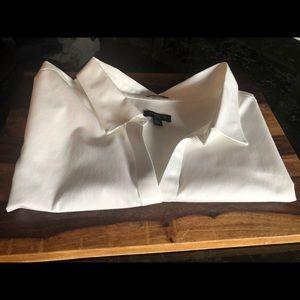 Talbots Sleeveless Women's White Dress Shirt